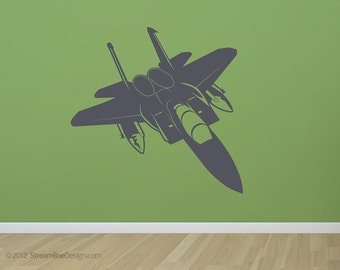 Jet Airplane Wall Decal | kids wall decal wall art plane airplane decor jet plane wall decal airplane art bedroom wall art aviation decor