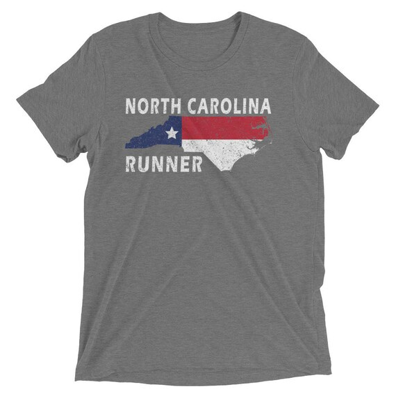 Men's North Carolina Runner Triblend T-Shirt - Run North Carolina - Men's Short Sleeve Running Shirt