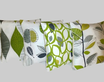 "PAIR  Cushion Pillow Covers Lime Green Decorative Throw Funky Designer Pillows Scatter Slips 16"" (40cm)"