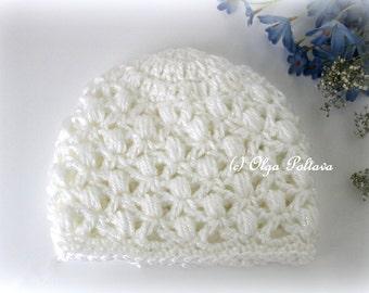Soft Puffs Baby Crochet Beanie Hat Pattern, Easy Crochet Pattern, Size 3-6 Months Baby, PDF Download