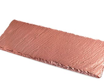 Rose Gold Slate Tray