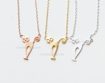 Tiny Cat Necklace, kitty Cat Jewelry, Cat Lover Gift, Girls Necklace, Kitty Jewelry, Birthday Gift, Pet Jewelry