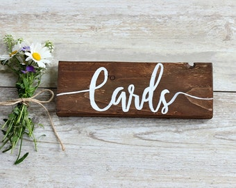 Cards Wedding Sign, Card Sign for Wedding, Rustic Wedding Signs, Rustic Wedding Decor, Wedding Decorations Rustic, Wedding Decoration Ideas