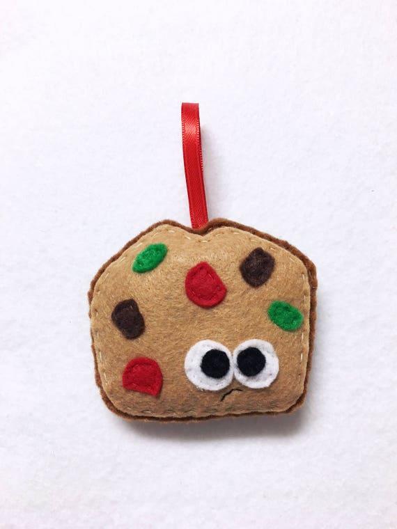 Fruitcake Ornament, Christmas Ornament, Felt Holiday Ornament, Fabio the Fruitcake, Secret Santa Gift, Gag Gift