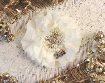 NHL Winnipeg Jets Ivory Lace Wedding Garter   Wedding Garter Set   Sports Garter   Bridal Shower Gift   Bridal Gift  Ask a Question