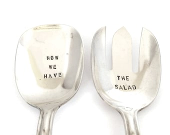 Salad cutlery silver - now we have the salad