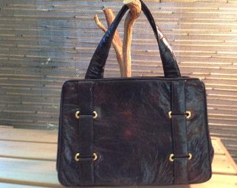 Brown Paristyle Handbag Made In Italy