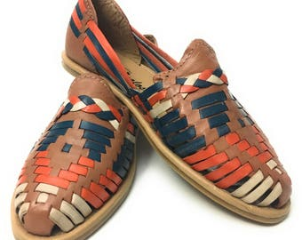 Original Mexican leather Huarache sandals. Womens sandals.