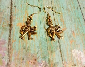 Handyman, Handy Man earrings, handy woman jewelry, charm earrings, dangle earrings