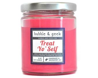 Treat Yo' Self Scented Soy Candle Jar