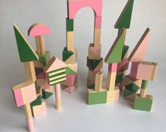 Building Blocks -stacking blocks - towers, toddler gift, kids present birthday present, Christmas present, learning toy, wooden toys