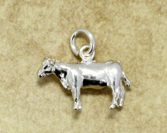 Heifer Charm, 925 Sterling Silver Show Heifer Charm