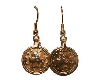 Vintage Roman Coin Earrings