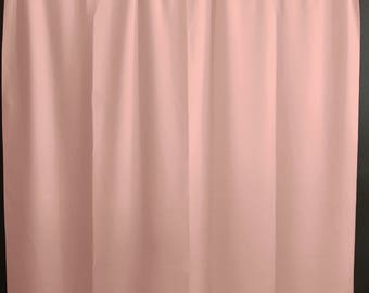 Solid Poplin Curtain Panel / Window Decor / Window Treatments / Backdrop Light Peach