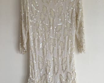 Vintage Sequin Flapper Dress