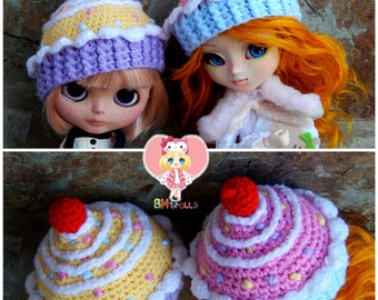 Cupcake Hat for Blythe Doll