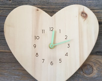 Heart Clock | Wood & Acrylic