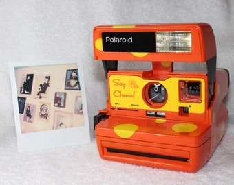 Say Cheese! Upcycled Polaroid 600 OneStep With Close Up And Flash Built-In