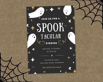 Halloween Party Invitations, Printable Cute Halloween Invitation, Halloween Party Supplies, Personalized Invite, Kids Halloween Birthday