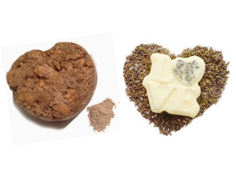 Shampoo Bar Conditioner Bar, Shampoo and Conditioner, African Black Soap, Rhassoul Clay Lavender Essential Oil