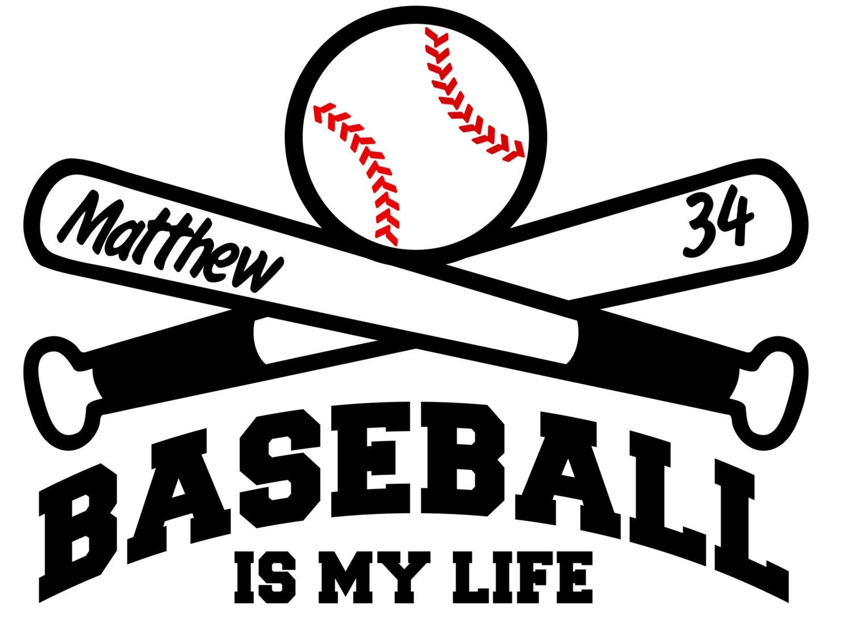 Baseball Life Personalized Wall Vinyl Decal