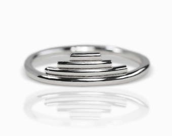 Echo Stacking Ring - Sterling Silver Ring - Sterling Silver Stacking Ring -Sterling Silver Band -Silver Stacking Ring - Stacking Rings