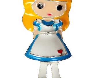 1.25 inches ONE Character Enamel Flat back Center - Alice
