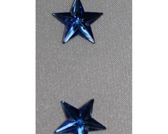 rhinestones in the shape of Star-16 mm - blue