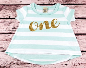 First Birthday Baby Girl Shirt Gold Glitter Birthday Shirt 1st Birthday Girl First Birthday Shirt 1st Birthday Outfit Cake Smash Outfit