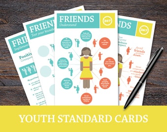 The 24/7 Project: Choosing Friends; Youth Standard Cards, LDS Young Women activity, personal progress, FHE