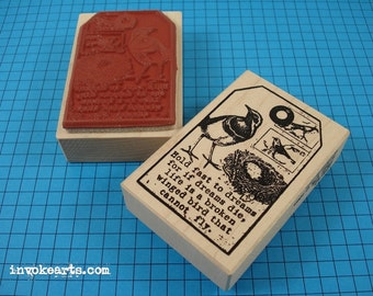 Flight Tag Stamp / Invoke Arts Collage Rubber Stamps
