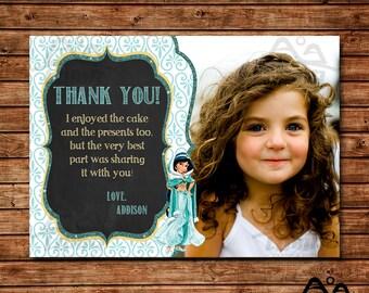Aladdin Birthday Thank You, Jasmine Birthday, Disney Princess Thank You, Princess Birthday Thank You, Aladdin, Jasmine