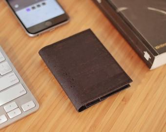 Vegan Minimalist Wallet - ID Wallet - Sustainable Vegan Wallet for Men - Wallet - Cork Wallet ~ Sustainable Wallet - Eco Friendly Wallet