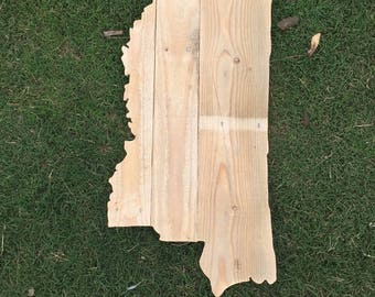 Reclaimed Wood Mississippi State Signs