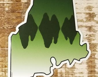 Maine Largemouth Bass Sticker Decal