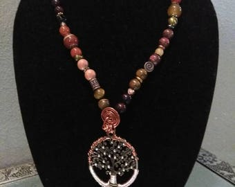 Tree of life root chakra necklace