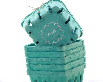 6 - 1/2 Pint Sized Berry Boxes made from Recycled Pulp