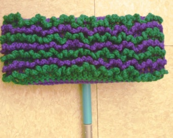 Purple and Green Swiffer Cloth - Purple and Green Floor Dusting Cloth - Two Sided Swiffer Cloth - Two Sided Floor Dusting Cloth