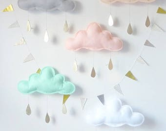 Cloud wall hanging decor, kids room decor, baby room decor, baby shower gift, cloud decor, cloud cushion, cloud baby shower, cloud pillow
