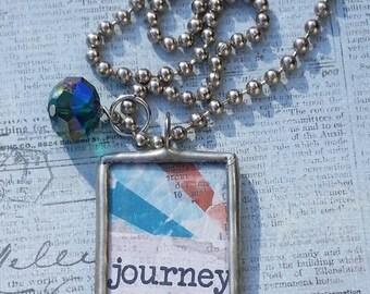 Inspirational JOURNEY Soldered Pendant Necklace