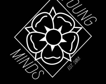 Young Minds Logo Sticker