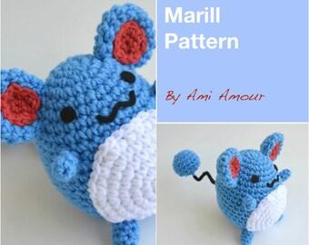 Mouse Pattern Marill Pokemon Amigurumi PDF
