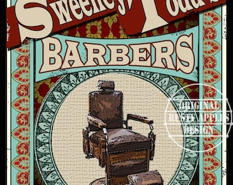"""Sweeney Todd Demon Barber """"Come Take A Seat"""" Victorian Shop Poster Metal Sign 3 Sizes To Choose From"""