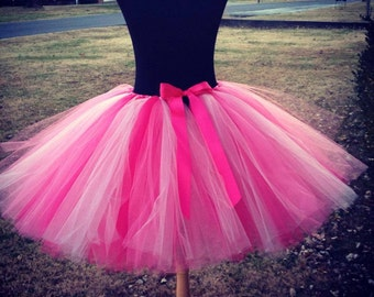 "Adult Flamingo Tutu Flamingo Costume Tutu for waist 45 1/2"" to 55 1/2"" great for Halloween, Birthdays, Dance and Bachelorette parties"