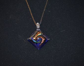 The Erica: Blue Glass Pendant Necklace