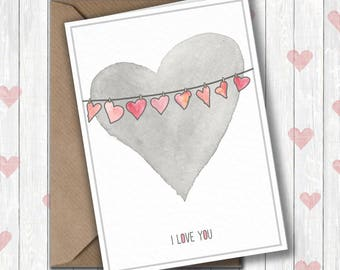 Valentines Card, I love you Valentines card
