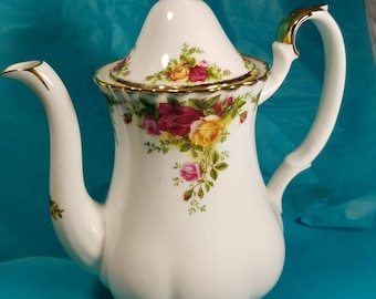 New Royal Albert Old Country Roses Coffee Pot Pitcher Server