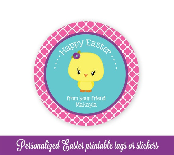 Easter gift tags easter favor tags easter tags chick easter easter gift tags easter favor tags easter tags chick easter bag tags easter printable kids personalized easter tags editable pdf negle Images