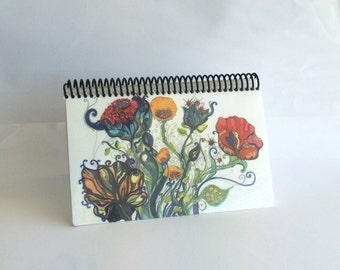 Artists Blank Watercolor Book, Sketchbook with Heavy Strathmore paper, Bohemian Cover to Inspire