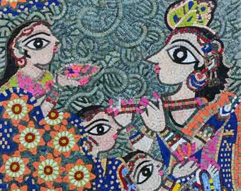 "Bharti Dayal ""Harmony"" - Mosaic Art Reproduction"